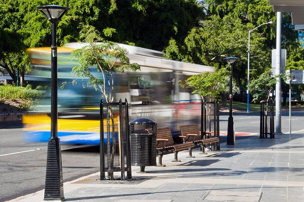 Image of Brisbane City Council Bus and Street Trees