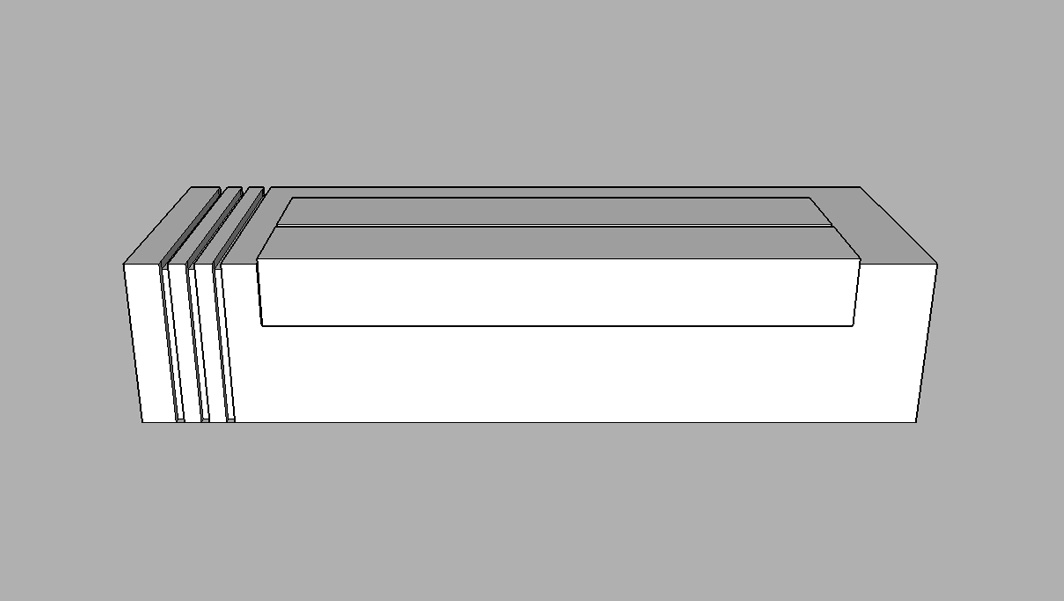 3d representation of Monolithic Granite Plaza Seats