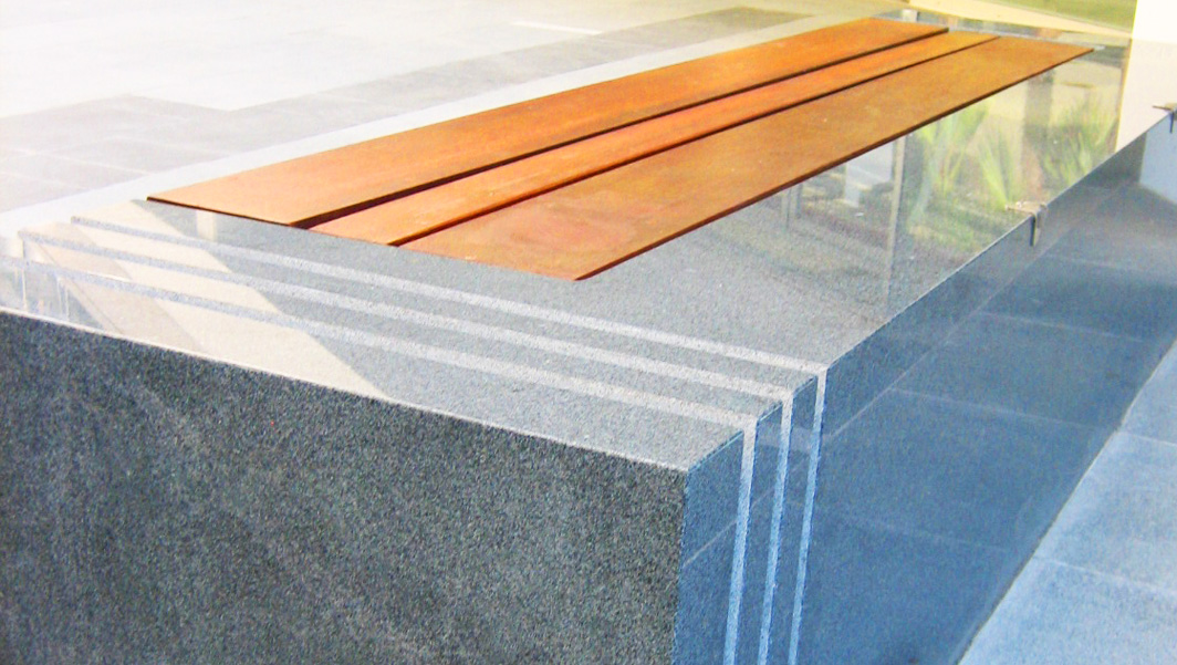 Photo of Monolithic Granite Plaza Seats