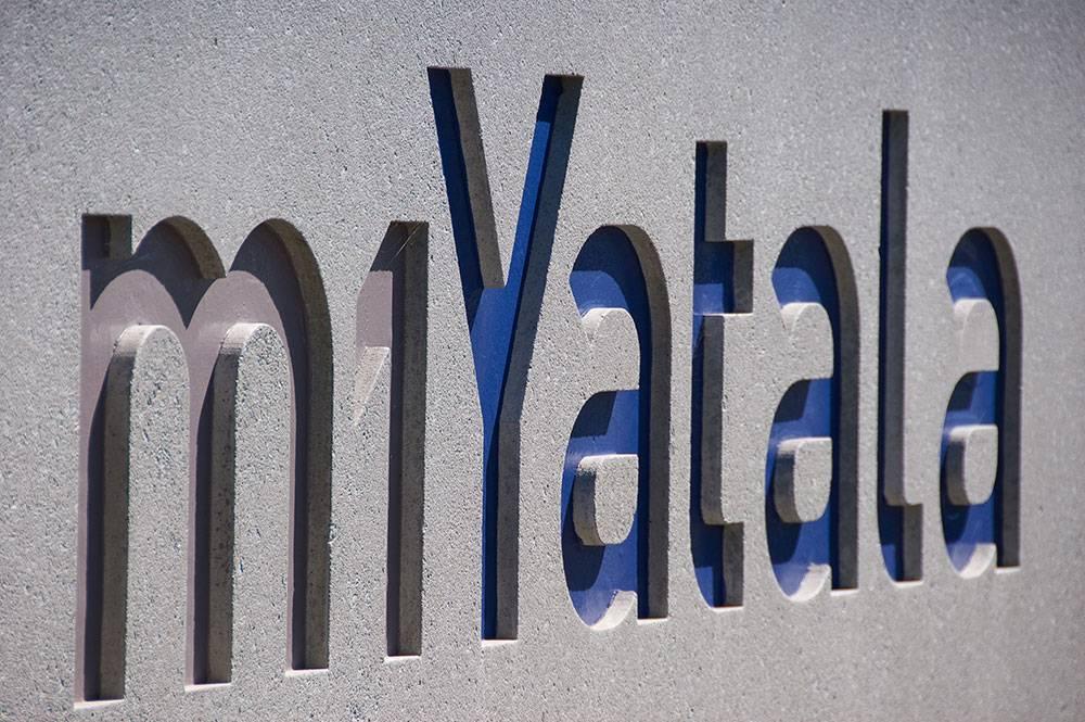 Close up of m1Yatala signage