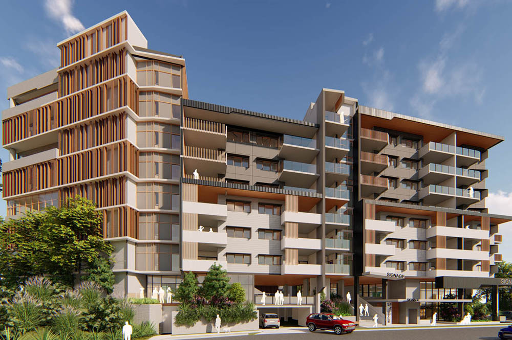 Architectural render of Mount Gravatt Mixed Use Development