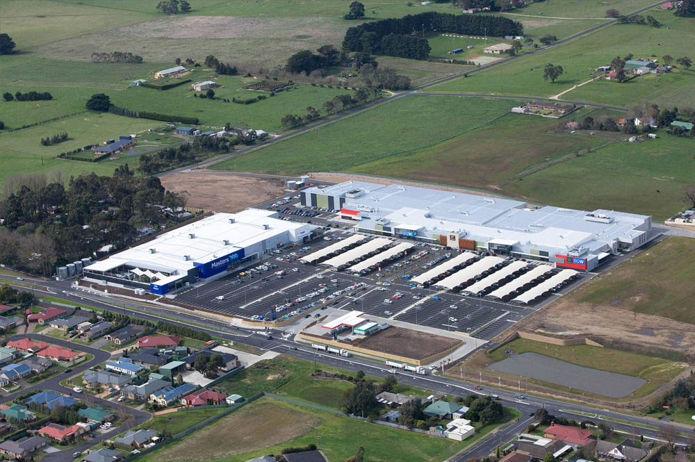 Aerial photo of Mt Gambier Marketplace