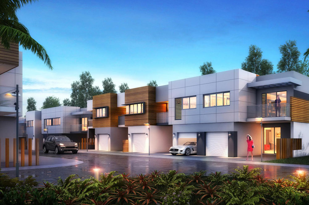 Architectural render of Nottingham Road Townhomes