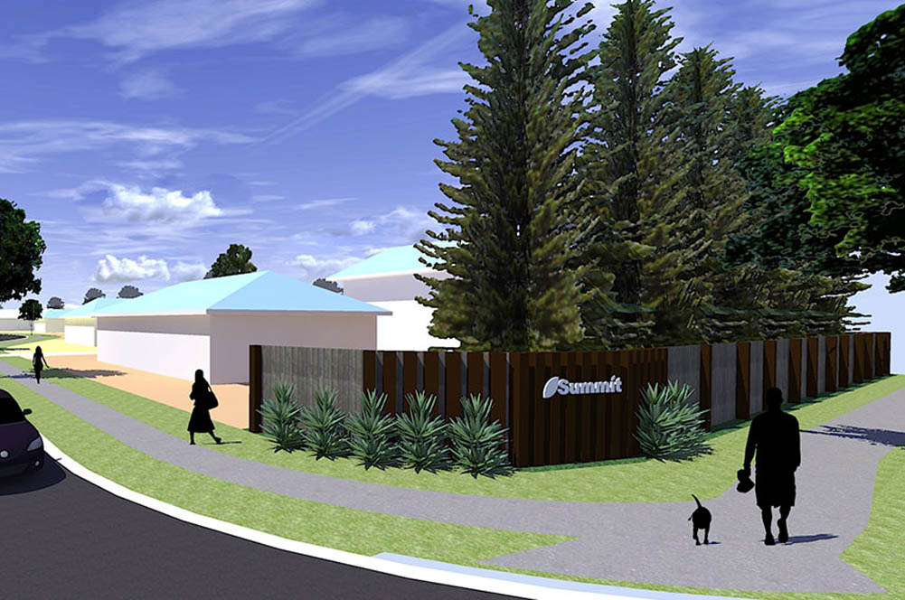 Landscape image 3 dimensional render of Summit Residential Community